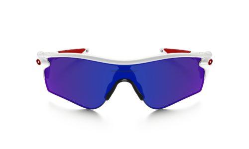 Oakley xịn chính hãng OO9206-10 gọng trắng tròng xanh đỏ